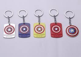 Movie <b>Key Chain</b> Avengers Infinity War <b>Captain</b> America <b>New Shield</b> ...