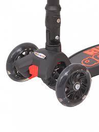 <b>Самокат</b> детский <b>3</b>-<b>х колесный</b> складной RUSH ACTION чёрный ...