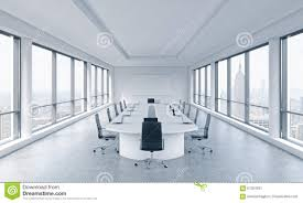 a bright modern panoramic meeting room in a modern office with new york city view bright office
