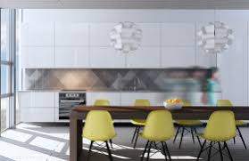 apartment creative pendant lighting for dining room plus yellow shell chairs and quirky kitchen backsplash modern beautiful modern kitchen lighting pendants yellow