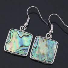 <b>New natural</b> Zealand abalone <b>shell</b> square dangle <b>Fashion</b> earrings ...