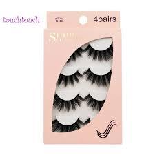 <b>SHIDISHANGPIN 4 Pairs Mink</b> Eyelashes 3D Mink Lashes Fake G106