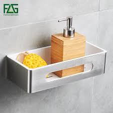 2019 <b>FLG Bathroom Shelf Wall</b> Mount Single Tier Stainless Steel ...