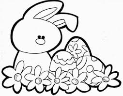 Small Picture Easy easter bunny coloring pages for kids Grootfeestinfo