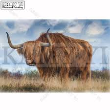 diamond painting yak full square diamond embroidery animal cross stitch mosaic home decoration