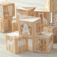 Etched <b>Wooden Blocks</b> | The Land of Nod | Детские кубики ...