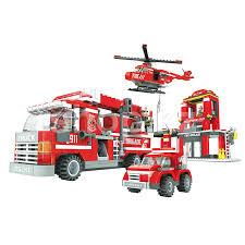 <b>Конструктор</b> игровой <b>Ausini</b>, <b>Пожарная бригада</b>: Штаб пожарной ...