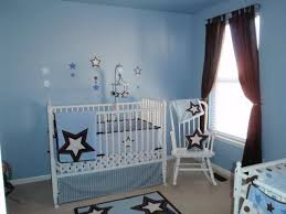 star themed crib bedding plus blue wall paint color in lovely baby boy nursery idea feat baby room color ideas design