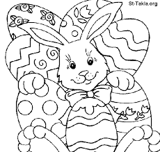 Small Picture Easter Bunny and Eggs Coloring Pages for Kids Childrens Free