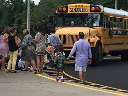 education louisville news dismissal time at dunn elementary school on the first day of school aug 10