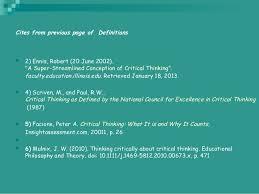 Critical thinking presentation SlideShare