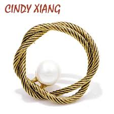 <b>CINDY XIANG New</b> Arrival Vintage Circle Brooches for Women ...