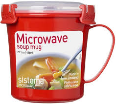 Кружка суповая <b>Sistema Microwave</b> Soup Mag, 656 мл <b>Red</b> (<b>1107</b>)