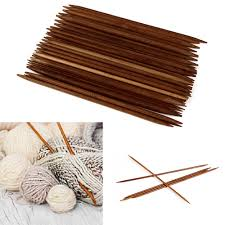 <b>55Pcs</b>/Set <b>11 Sizes 5</b>'' <b>13cm</b> Carbonized Bamboo Crochet Knitting ...