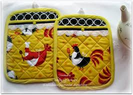 Rooster Chicken Kitchen Decor Thimbles Bobbins Paper And Ink Chicken Themed Kitchen Linens