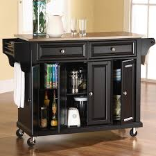 Crosley Kitchen Cart Granite Top Breakfast Bar Kitchen Cart Wood Top Kitchen Cart With Breakfast