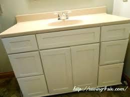 painting bathroom vanity chalk