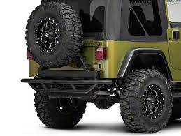 rc crawler metal rear bumper and spare tire rack carrier for 1 10 defender d90 d110 car