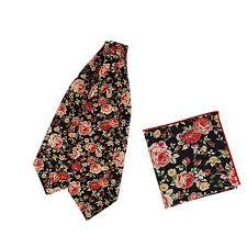 Dan Smith <b>Men's Fashion</b> Floral <b>Men's Cotton Cravat</b> Hanky Set ...