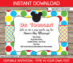 minnie mouse party invitations template birthday party mickey mouse party invitations template