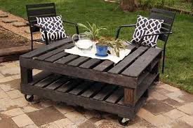 Pallet Table Design On Rollers