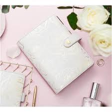 <b>Lovedoki</b> White Gold Flower <b>Planner</b>   Shopee Malaysia