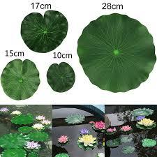 <b>2Pcs</b> Artificial Floating Lotus <b>Leaves</b> Fake Foliage <b>Plant</b> Garden ...