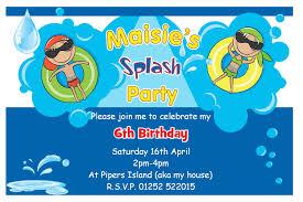 birthday pool party invitations com birthday pool party invitations which suitable for your party 25111614