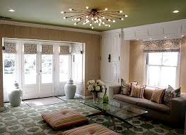 love how so many different patterns created such a cohesive look great statement light for ceiling wall lights bedroom