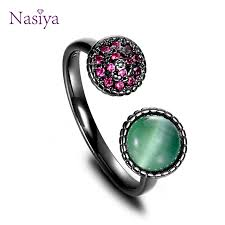 <b>NASIA 925 Sterling Silver</b> Ring for Women Adjustable Opening ...