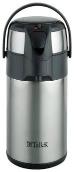 Купить Помповый термос Taller Бартон (2,<b>5</b> л) серебристый по ...