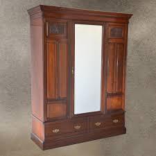 antique walnut wardrobe armoire top quality english edwardian c1910 antique english wardrobe armoire