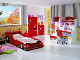 room elegant wallpaper bedroom: x kids bedroom amazing red car bunk bed with elegant excerpt wallpaper for boys cool kids room