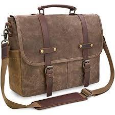 Amazon.com: <b>Mens</b> Messenger <b>Bag</b> 15.6 Inch Waterproof <b>Vintage</b> ...