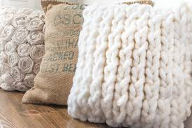 wool knit twist cushion double sided american country style pillowcase without core