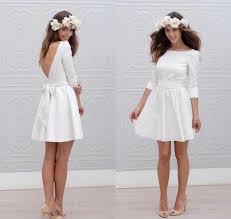 Fall 2019 New <b>Elegant Boho</b> Short Wedding Dresses Scoop A <b>Line</b> ...