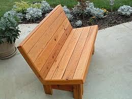 park bench cedar bench plans