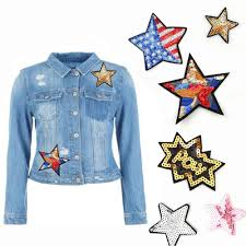 5/6/<b>10pcs</b>/<b>Pack</b> Patch <b>Stars</b> Sequins Patches <b>Applique</b> | Shopee ...
