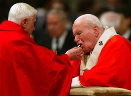 Image result for Photo of Pope John Paul II with Bishop Athanasius Schneider