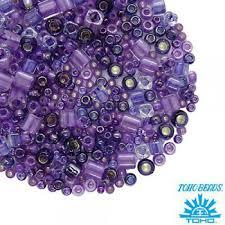 <b>Бисер TOHO</b> Beads Mix, цвет <b>3207</b> Kawaii - Purple/Green 10 ...