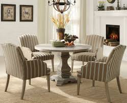 kitchen pedestal dining table set: homelegance euro casual round pedestal dining table in rustic weathered beyond stores