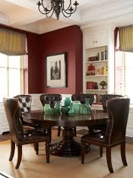 Tufted Leather Dining Room Chairs