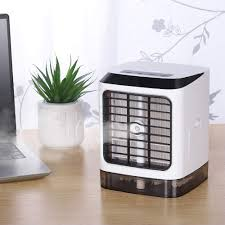 3-in-1 Quiet Table Air Conditioner, <b>Mini Desktop Humidifier</b> with ...