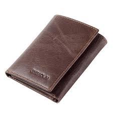 <b>JINBAOLAI</b> Men <b>Genuine Leather</b> Minimalist Tri-fold Wallet Classic ...