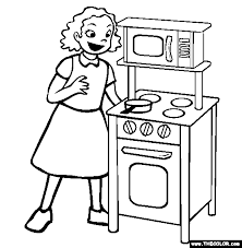 Small Picture Play Kitchen Coloring Page Free Play Kitchen Online Coloring
