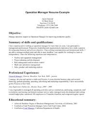 operations manager resume getessay biz operation manager example operation manager example in operations manager