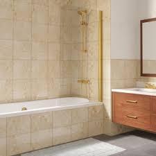 <b>Шторка на ванну Vegas</b> Glass EV Lux 75 09 01 R профиль золото ...