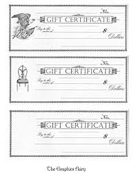 printable gift certificates the graphics fairy xxxooo