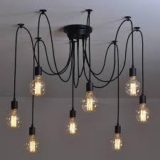 <b>Modern Nordic</b> Industrial Edison Chandelier Light Vintage <b>Spider</b> ...