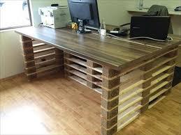 pallet desk diy home office desk recycled